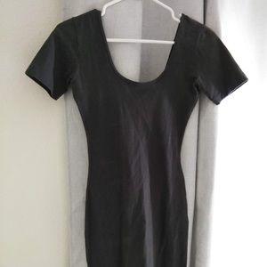 American Apparel Dark Grey Form Fit Dress Tunic L